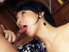 Seductive Tranny Dick licking