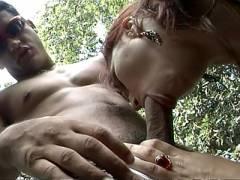 Latina Emily Outdoor Dick sucking