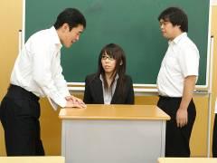 Hot teacher Maho Sawai gets rammed at school