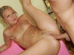 See erotic mature Katie Gold vagina ramed
