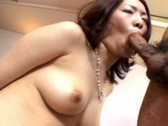 Horny hairy snatch Japanese pokeed hard!