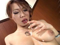 Misaki Asou best sloppy and messy suck off!